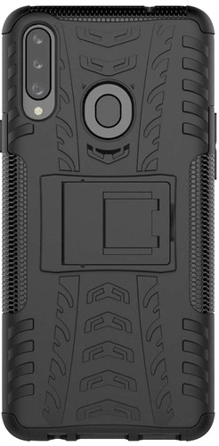 Just in Case Rugged Hybrid Samsung Galaxy A20s Back Cover Zwart Main Image