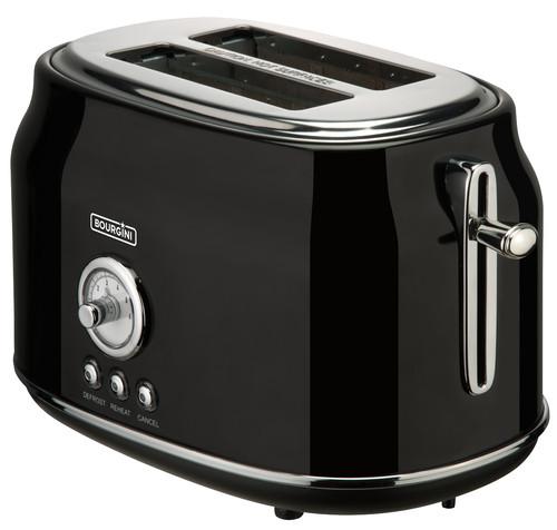Bourgini Retro Toaster Black