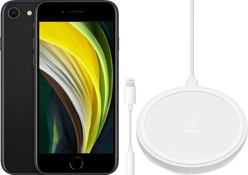 Apple iPhone SE 128 GB Zwart + Accessoirepakket Basis Main Image
