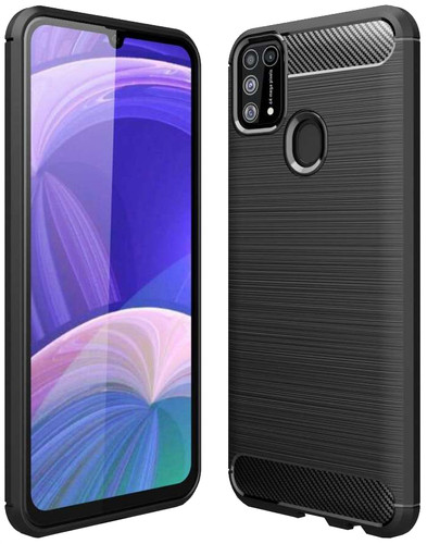 Just in Case Rugged Hybrid Samsung Galaxy M31 Back Cover Zwart Main Image