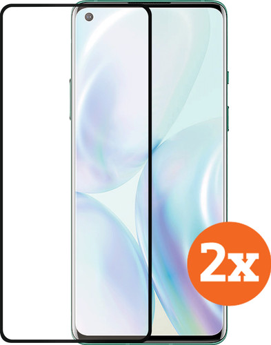 Azuri Curved Case Friendly One Plus 8 Screenprotector Glas Duo Pack Main Image