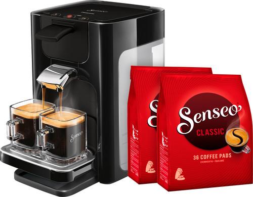 Philips Senseo Quadrante HD7865/60 Zwart + 72 koffiepads Main Image