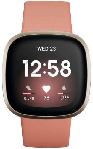 Fitbit Versa 3 Pink Clay/Soft Gold Main Image