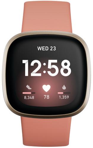 Fitbit Versa 3 Roze/Goud Main Image