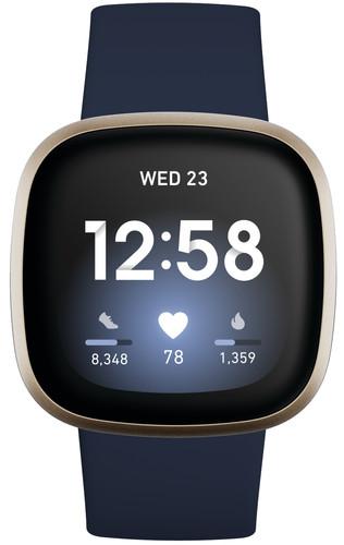 Fitbit Versa 3 Midnight/Soft Gold Main Image
