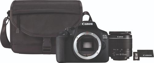 Canon EOS 2000D + 18-55mm f/3.5-5.6 DC III + Bag + 16GB Memory Card Main Image