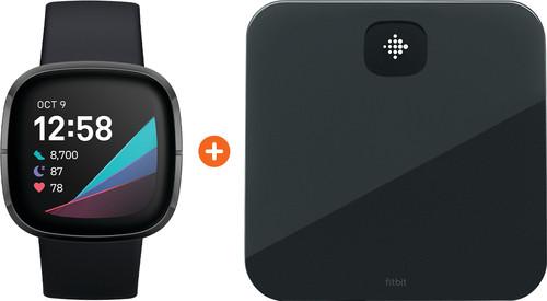 Fitbit Sense Carbon/Graphite + Fitbit Aria Air Black Main Image