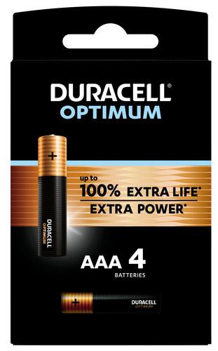 Duracell Alka Optimum AAA-batterijen 4 stuks Main Image