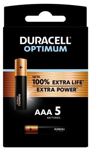 Duracell Alka Optimum AAA batteries 5 units Main Image