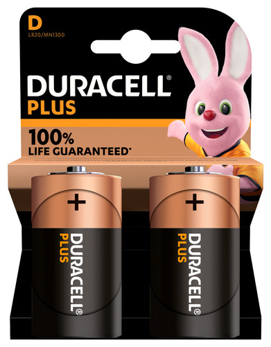 Duracell Alka Plus D batterijen 2 stuks Main Image
