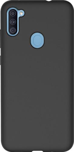 Azuri Samsung Galaxy A11 Back Cover Siliconen Zwart Main Image