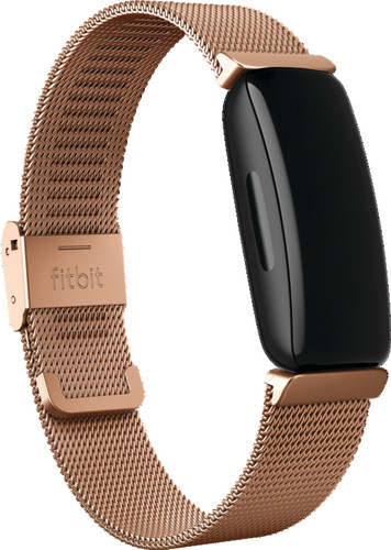 Fitbit Inspire 2 Metal Strap Rose Gold Main Image