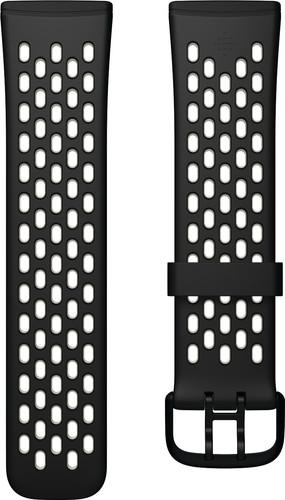 Fitbit Versa 3/Sense Silicone Strap Black/Lunar White Main Image