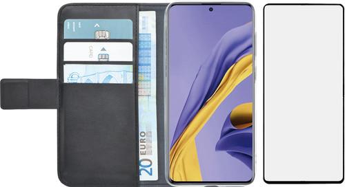 Azuri Wallet Samsung Galaxy A51 Book Case Zwart + Case Friendly Screenprotector Glas Main Image