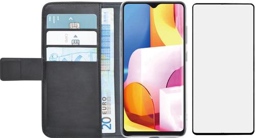 Azuri Wallet Samsung Galaxy A71 Book Case Zwart + Case Friendly Screenprotector Glas Main Image