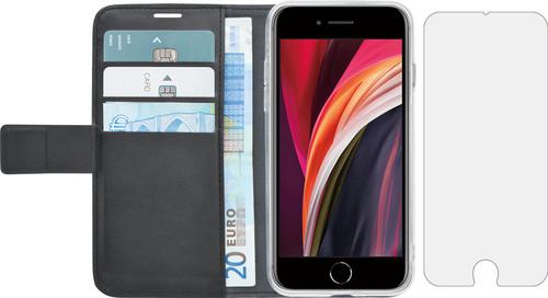 Azuri Wallet Apple iPhone SE 2/8/7 Book Case Black + Case Friendly Screen Protector Main Image