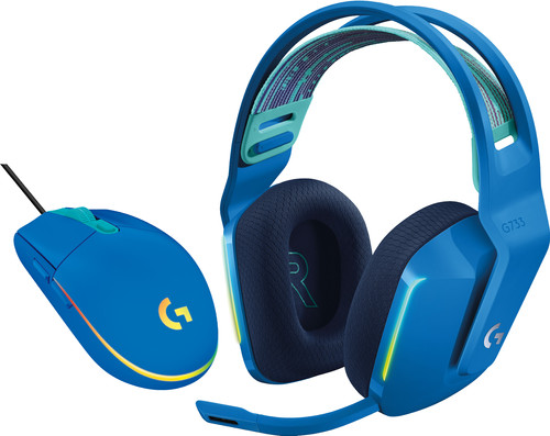 Logitech G733 Lightspeed Wireless Gaming Headset Blue + Logitech G203 Gaming Mouse Main Image