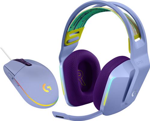 Logitech G733 Lightspeed Wireless Gaming Headset Purple + Logitech G203 Gaming Mouse Main Image