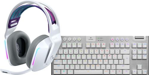 Logitech G733 LIGHTSPEED Wireless Gaming Headset White + Logitech G915 Gaming Keyboard Main Image