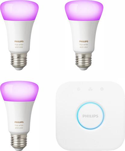 Philips Hue White & Color E27 Starter 3-Pack + 1 dimmer Main Image
