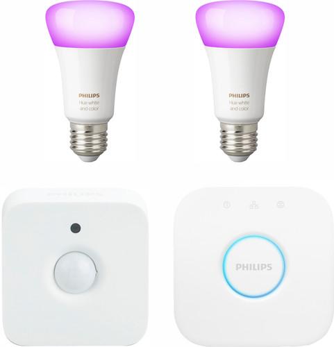 Philips Hue White & Color E27 Starter Duo Pack + Motion Sensor Main Image