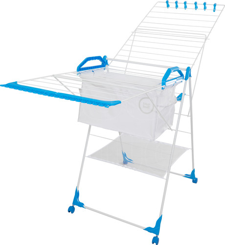 BlueBuilt Drying Rack 25 Meters with Laundry Basket, Clothespins, and Wash Bag Main Image