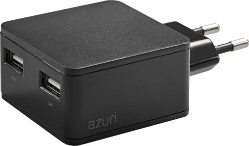 Azuri Oplader zonder Kabel 2 Usb Poorten 12W Zwart Main Image