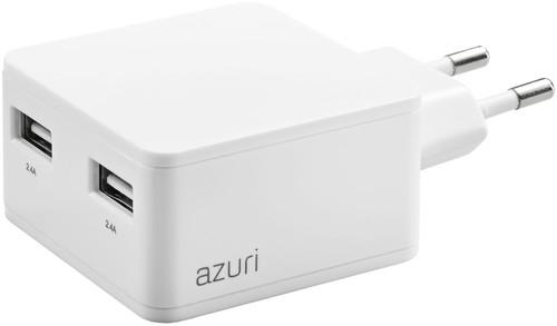Azuri Oplader zonder Kabel 2 Usb Poorten 12W Wit Main Image