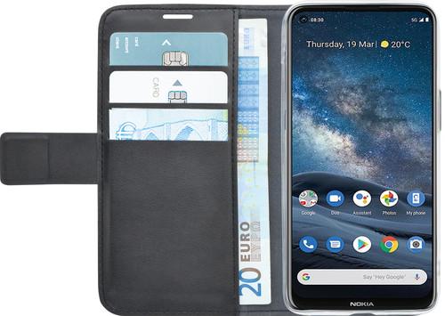 Azuri Wallet Magnet Nokia 8.3 Book Case Black Main Image