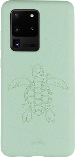 Pela Eco Friendly Samsung Galaxy S20 Ultra Back Cover Blauw (Turtle Edition) Main Image