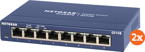 Netgear GS108 Duo Pack Main Image