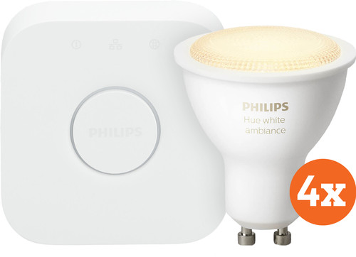 Philips Hue White Ambiance GU10 Bluetooth Starter 4-Pack Main Image