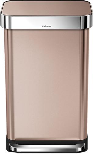 Simplehuman Rectangular Liner Pocket 45 liter Rosé Goud Main Image