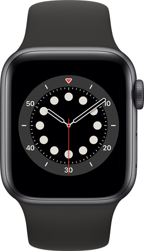 Apple Watch Series 6 40mm Space Gray Aluminium Zwarte Sportband Main Image