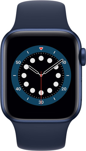 Apple Watch Series 6 40mm Blauw Aluminium Blauwe Sportband Main Image