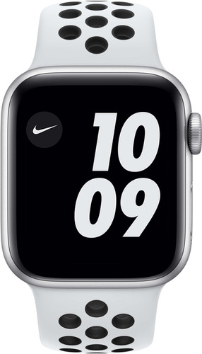 Apple Watch Nike Series 6 40mm Silver Aluminum White Sport Band Main Image