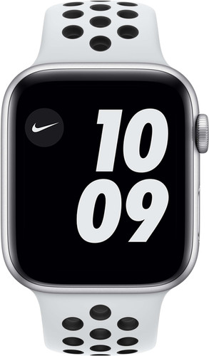 Apple Watch Nike Series 6 44mm Silver Aluminum White Sport Band Main Image