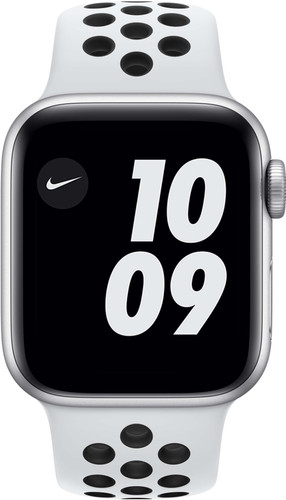 Apple Watch Nike SE 40mm Zilver Aluminium Witte Sportband Main Image