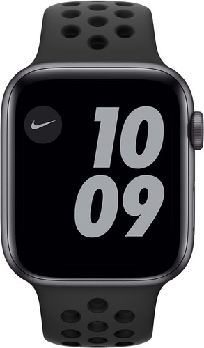 Apple Watch Nike SE 44mm Space Gray Aluminium Zwarte Sportband Main Image