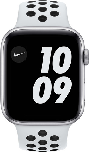Apple Watch Nike SE 44mm Zilver Aluminium Witte Sportband Main Image