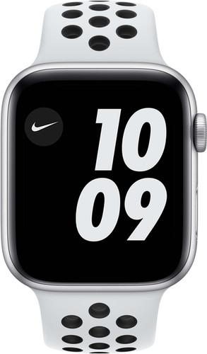Apple Watch Nike SE 44mm Silver Aluminum White Sport Band Main Image