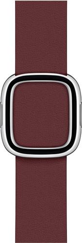 Apple Watch 38/40mm Modern Leather Watch Strap Garnet - Small Main Image