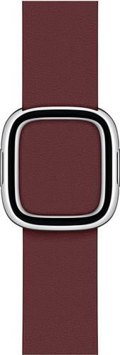 Apple Watch 38/40 mm Modern Leren Horlogeband Granaatsteenrood - Medium Main Image