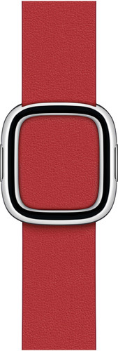 Apple Watch 38/40mm Modern Leather Watch Strap Scarlet - Large Main Image