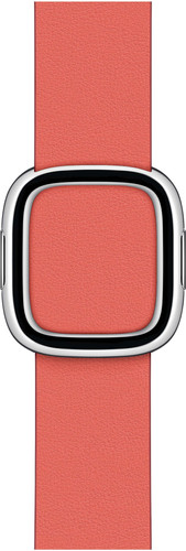 Apple Watch 38/40mm Modern Leather Watch Strap Pink Citrus - Small Main Image