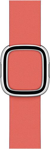 Apple Watch 38/40 mm Modern Leren Horlogeband Citrusroze - Medium Main Image