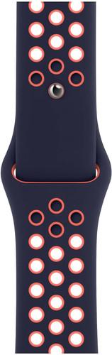 Apple Watch 42/44mm Silicone Watch Strap Nike Sport Blue Black/Bright Mango Main Image
