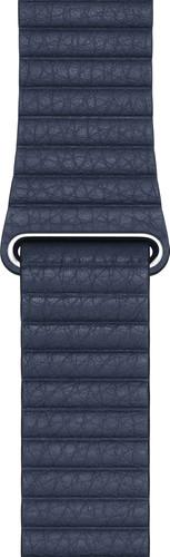 Apple Watch 42/44mm Leather Loop Watch Strap Diver Blue - Medium Main Image