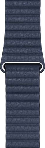 Apple Watch 42/44mm Leather Loop Watch Strap Diver Blue - Large Main Image