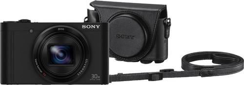 Sony CyberShot DSC-WX500 Black + LCJ-HWA Camera Bag Main Image